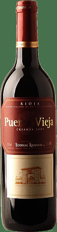 6,95 € Envoi gratuit | Vin rouge Bodegas Riojanas Puerta Vieja Crianza D.O.Ca. Rioja La Rioja Espagne Tempranillo, Graciano, Mazuelo Bouteille 75 cl