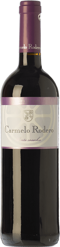 7,95 € 免费送货 | 红酒 Carmelo Rodero Cosecha Joven D.O. Ribera del Duero 卡斯蒂利亚莱昂 西班牙 Tempranillo 瓶子 75 cl