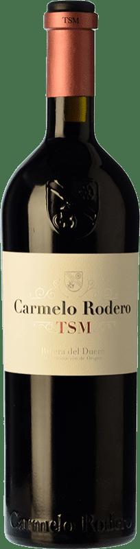 54,95 € 免费送货 | 红酒 Carmelo Rodero TSM Crianza D.O. Ribera del Duero 卡斯蒂利亚莱昂 西班牙 Tempranillo, Merlot, Cabernet Sauvignon 瓶子 75 cl
