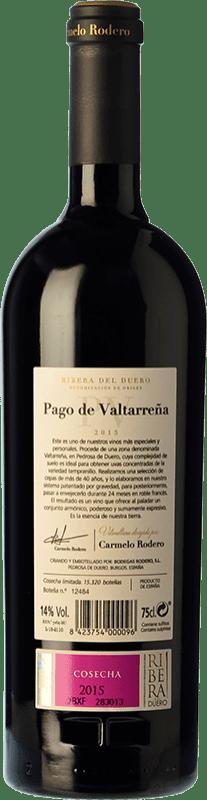 58,95 € Free Shipping | Red wine Carmelo Rodero Valtarreña Reserva D.O. Ribera del Duero Castilla y León Spain Tempranillo, Cabernet Sauvignon Bottle 75 cl