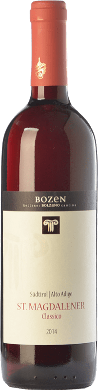 11,95 € Free Shipping | Red wine Bolzano St. Magdalener D.O.C. Alto Adige Trentino-Alto Adige Italy Lagrein, Schiava Gentile Bottle 75 cl