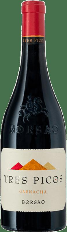 16,95 € Envío gratis | Vino tinto Borsao Tres Picos Joven D.O. Campo de Borja Aragón España Garnacha Botella 75 cl
