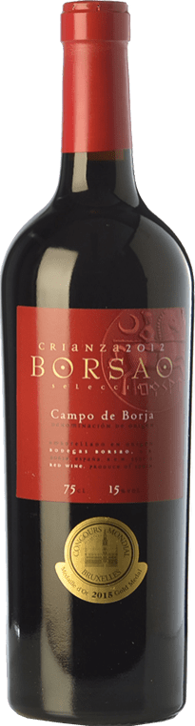 7,95 € 免费送货 | 红酒 Borsao Crianza D.O. Campo de Borja 阿拉贡 西班牙 Tempranillo, Merlot, Grenache 瓶子 75 cl