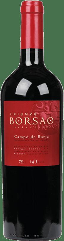 7,95 € Envío gratis | Vino tinto Borsao Crianza D.O. Campo de Borja Aragón España Tempranillo, Merlot, Garnacha Botella 75 cl