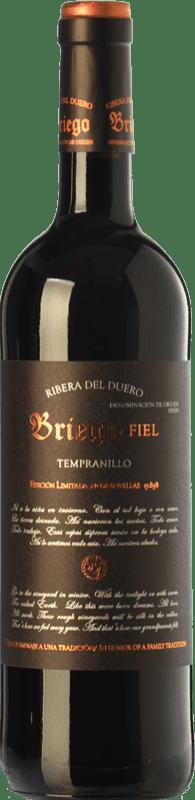 37,95 € Envoi gratuit | Vin rouge Briego Fiel Reserva D.O. Ribera del Duero Castille et Leon Espagne Tempranillo Bouteille 75 cl