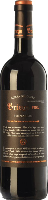 37,95 € Envío gratis | Vino tinto Briego Fiel Reserva D.O. Ribera del Duero Castilla y León España Tempranillo Botella 75 cl