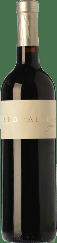 9,95 € Envío gratis | Vino tinto Bro Valero Crianza D.O. La Mancha Castilla la Mancha España Syrah Botella 75 cl