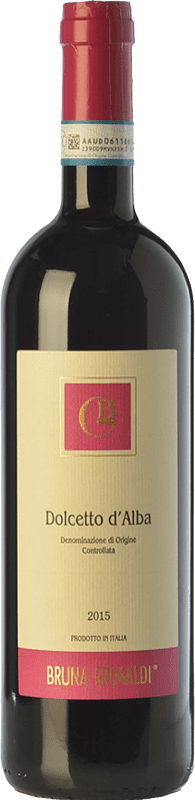 9,95 € | Red wine Bruna Grimaldi D.O.C.G. Dolcetto d'Alba Piemonte Italy Dolcetto Bottle 75 cl