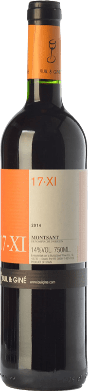 9,95 € | Red wine Buil & Giné 17.XI Joven D.O. Montsant Catalonia Spain Tempranillo, Grenache, Carignan Bottle 75 cl