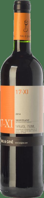 9,95 € Envoi gratuit | Vin rouge Buil & Giné 17.XI Joven D.O. Montsant Catalogne Espagne Tempranillo, Grenache, Carignan Bouteille 75 cl