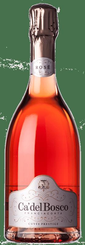 52,95 € Free Shipping | Rosé sparkling Ca' del Bosco Cuvée Prestige Rosé D.O.C.G. Franciacorta Lombardia Italy Pinot Black, Chardonnay Bottle 75 cl