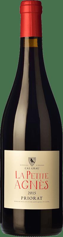 11,95 € Envío gratis | Vino tinto Cal Grau La Petite Agnès Joven D.O.Ca. Priorat Cataluña España Garnacha, Cariñena Botella 75 cl