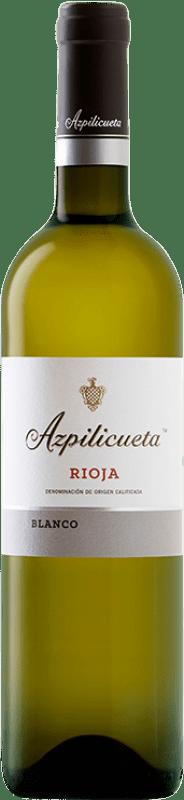 8,95 € Envío gratis | Vino blanco Campo Viejo Azpilicueta Crianza D.O.Ca. Rioja La Rioja España Viura Botella 75 cl