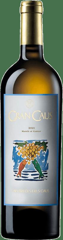 16,95 € Free Shipping | White wine Can Ràfols Gran Caus D.O. Penedès Catalonia Spain Xarel·lo, Chardonnay, Chenin White Bottle 75 cl