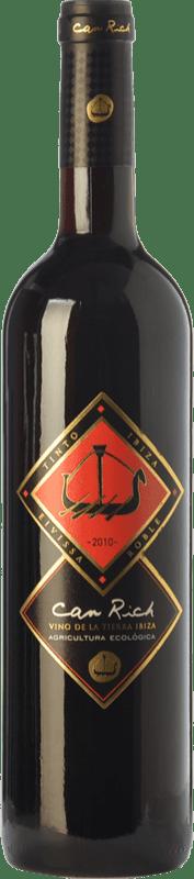 9,95 € | Red wine Can Rich Roble I.G.P. Vi de la Terra de Ibiza Balearic Islands Spain Tempranillo, Merlot Bottle 75 cl
