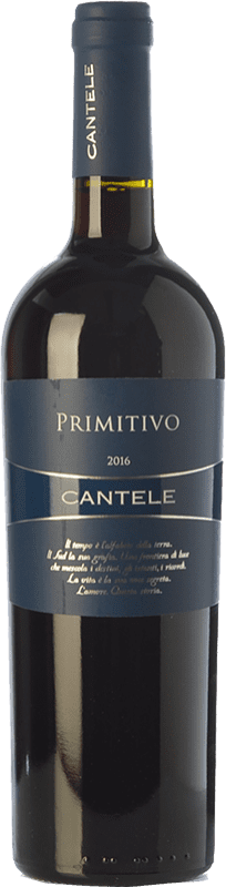 9,95 € | Red wine Cantele I.G.T. Salento Campania Italy Primitivo Bottle 75 cl