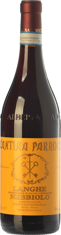 11,95 € Free Shipping | Red wine San Michele Cantina Parroco D.O.C. Langhe Piemonte Italy Nebbiolo Bottle 75 cl