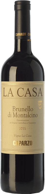81,95 € Free Shipping | Red wine Caparzo La Casa D.O.C.G. Brunello di Montalcino Tuscany Italy Sangiovese Bottle 75 cl