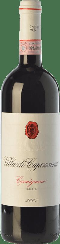 39,95 € | Red wine Capezzana Villa di Selezione 2007 D.O.C.G. Carmignano Tuscany Italy Cabernet Sauvignon, Sangiovese Bottle 75 cl