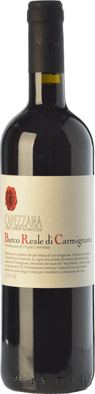 13,95 € Free Shipping | Red wine Capezzana D.O.C. Barco Reale di Carmignano Tuscany Italy Cabernet Sauvignon, Sangiovese, Canaiolo Bottle 75 cl