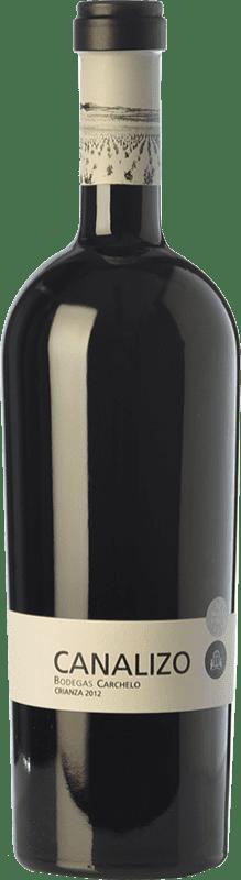 29,95 € Envío gratis | Vino tinto Carchelo Canalizo Crianza D.O. Jumilla Castilla la Mancha España Tempranillo, Syrah, Monastrell Botella 75 cl