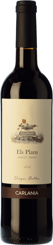 19,95 € Envío gratis | Vino tinto Carlania Els Corrals Crianza D.O. Conca de Barberà Cataluña España Merlot, Trepat Botella 75 cl