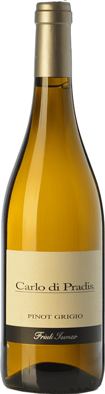 12,95 € Free Shipping | White wine Carlo di Pradis Pinot Grigio D.O.C. Friuli Isonzo Friuli-Venezia Giulia Italy Pinot Grey Bottle 75 cl
