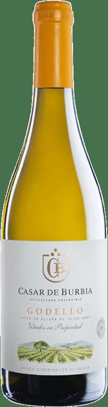 Envío gratis | Vino blanco Casar de Burbia 2016 D.O. Bierzo Castilla y León España Godello Botella 75 cl