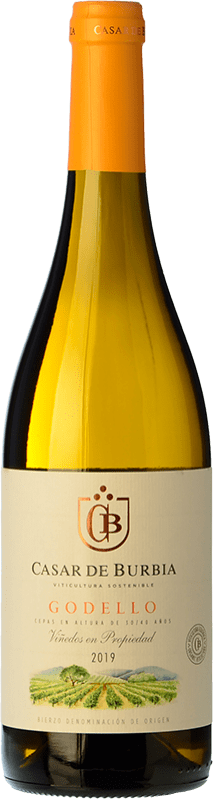 White wine Casar de Burbia 2016 D.O. Bierzo Castilla y León Spain Godello Bottle 75 cl