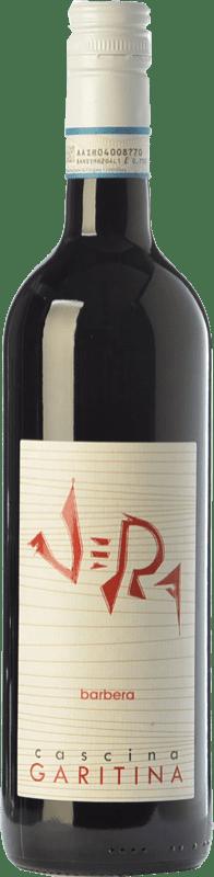 8,95 € Free Shipping | Red wine Cascina Garitina Vera D.O.C. Piedmont Piemonte Italy Barbera Bottle 75 cl