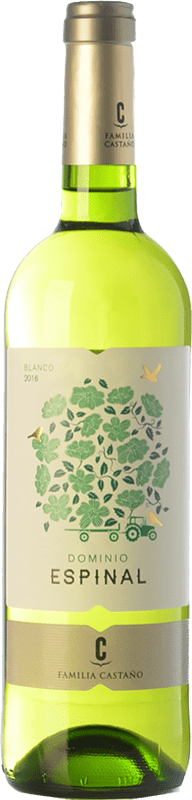 5,95 € Envío gratis | Vino blanco Castaño Dominio de Espinal Joven D.O. Yecla Región de Murcia España Macabeo Botella 75 cl