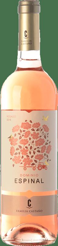 5,95 € Envío gratis | Vino rosado Castaño Dominio de Espinal Joven D.O. Yecla Región de Murcia España Macabeo Botella 75 cl