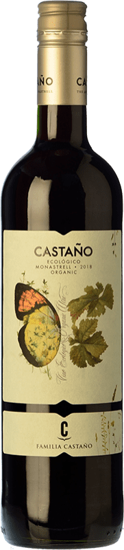 6,95 € | Red wine Castaño Ecológico Joven D.O. Yecla Region of Murcia Spain Monastrell Bottle 75 cl