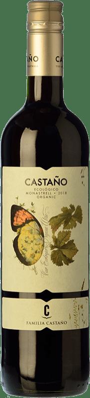 6,95 € Envío gratis | Vino tinto Castaño Ecológico Joven D.O. Yecla Región de Murcia España Monastrell Botella 75 cl