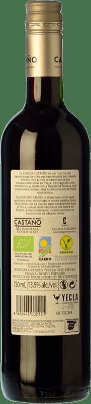 6,95 € Free Shipping   Red wine Castaño Ecológico Joven D.O. Yecla Region of Murcia Spain Monastrell Bottle 75 cl