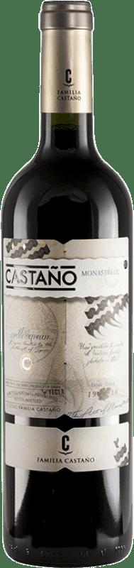 7,95 € Envío gratis | Vino tinto Castaño Joven D.O. Yecla Región de Murcia España Monastrell Botella 75 cl