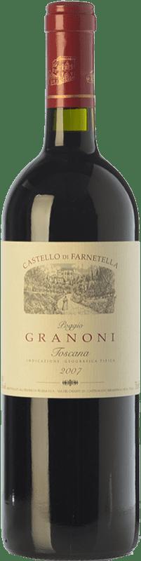 26,95 € Envío gratis | Vino tinto Castello di Farnetella Poggio Granoni I.G.T. Toscana Toscana Italia Merlot, Syrah, Cabernet Sauvignon, Sangiovese Botella 75 cl