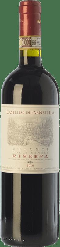 13,95 € Envío gratis | Vino tinto Castello di Farnetella Riserva Reserva D.O.C.G. Chianti Toscana Italia Merlot, Cabernet Sauvignon, Sangiovese Botella 75 cl