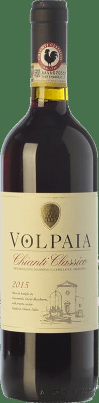 19,95 € Free Shipping | Red wine Castello di Volpaia D.O.C.G. Chianti Classico Tuscany Italy Merlot, Syrah, Sangiovese Bottle 75 cl