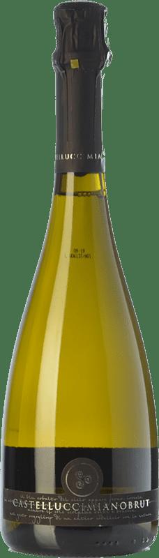 19,95 € Free Shipping | White sparkling Castellucci Miano Brut I.G.T. Terre Siciliane Sicily Italy Catarratto Bottle 75 cl