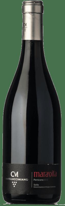 69,95 € Free Shipping | Red wine Castellucci Miano Maravita 2010 I.G.T. Terre Siciliane Sicily Italy Perricone Bottle 75 cl