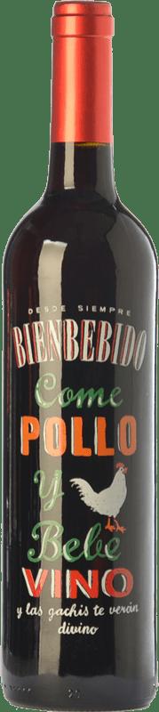 7,95 € Free Shipping | Red wine Castillo de Maetierra Come Pollo y Bebe Vino Joven I.G.P. Vino de la Tierra Ribera del Queiles Aragon Spain Grenache Bottle 75 cl