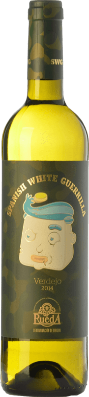 5,95 € | White wine Castillo de Maetierra Spanish White Guerrilla Joven I.G.P. Vino de la Tierra Valles de Sadacia The Rioja Spain Verdejo Bottle 75 cl