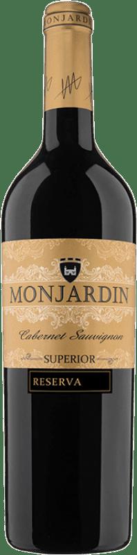 15,95 € Free Shipping | Red wine Castillo de Monjardín Reserva D.O. Navarra Navarre Spain Tempranillo, Merlot, Cabernet Sauvignon Bottle 75 cl