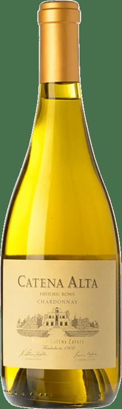 22,95 € Envío gratis | Vino blanco Catena Zapata Alta Crianza I.G. Mendoza Mendoza Argentina Chardonnay Botella 75 cl