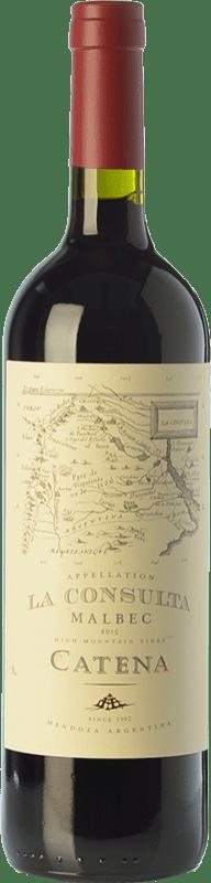 17,95 € Envoi gratuit | Vin rouge Catena Zapata La Consulta Reserva I.G. Valle de Uco Uco Valley Argentine Malbec Bouteille 75 cl