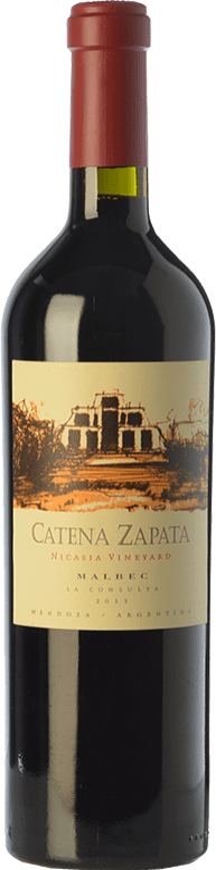 89,95 € 免费送货 | 红酒 Catena Zapata Nicasia Vineyard Crianza I.G. Mendoza 门多萨 阿根廷 Malbec 瓶子 75 cl