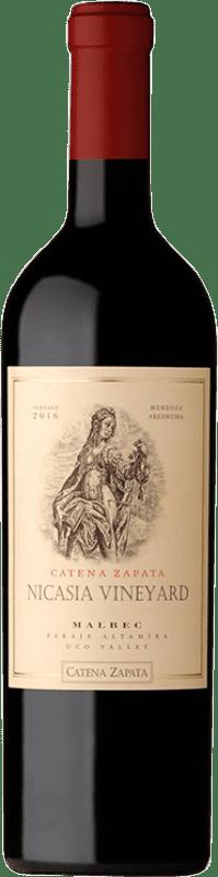 89,95 € Envío gratis | Vino tinto Catena Zapata Nicasia Vineyard Crianza I.G. Mendoza Mendoza Argentina Malbec Botella 75 cl