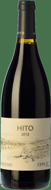13,95 € 免费送货 | 红酒 Cepa 21 Hito Joven D.O. Ribera del Duero 卡斯蒂利亚莱昂 西班牙 Tempranillo 瓶子 75 cl