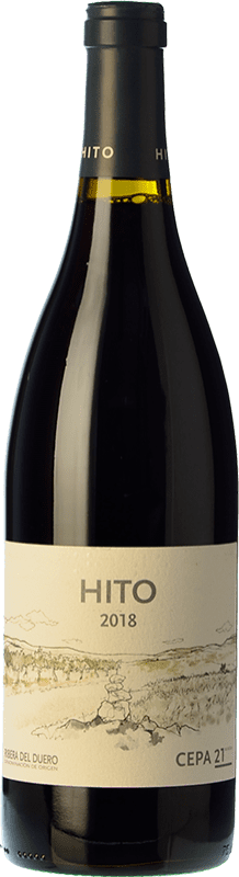 13,95 € Envoi gratuit | Vin rouge Cepa 21 Hito Joven D.O. Ribera del Duero Castille et Leon Espagne Tempranillo Bouteille 75 cl